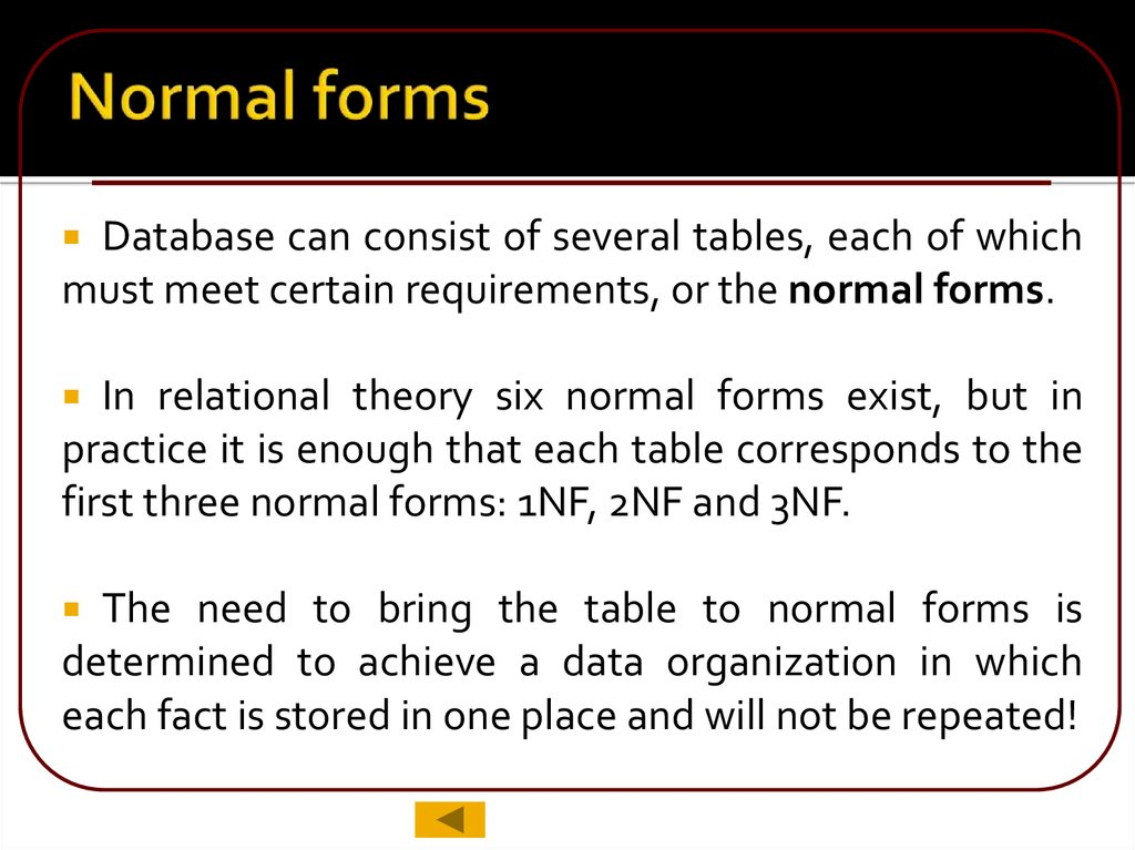 Normal forms