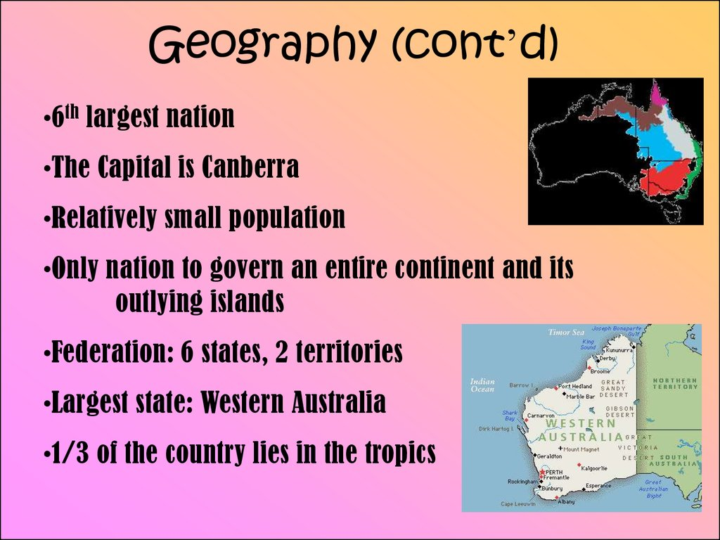 Geography (cont'd)
