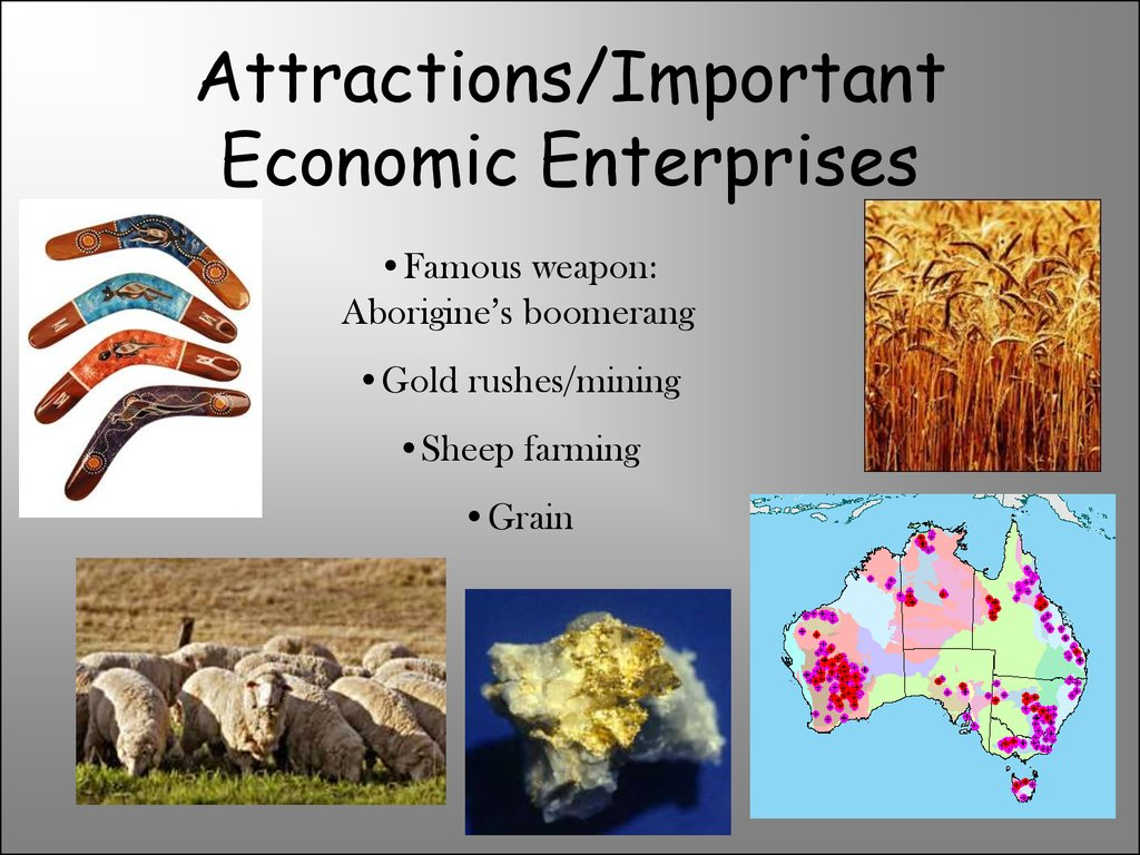Attractions/Important Economic Enterprises