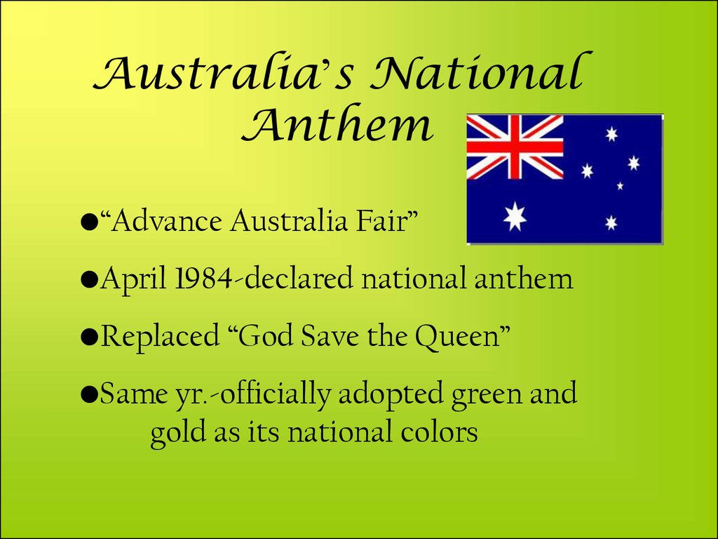 Australia's National Anthem