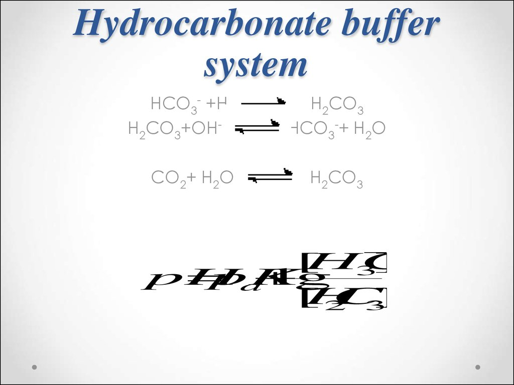 Hydrocarbonate buffer system