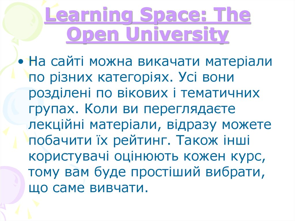 Learning Space: The Open University