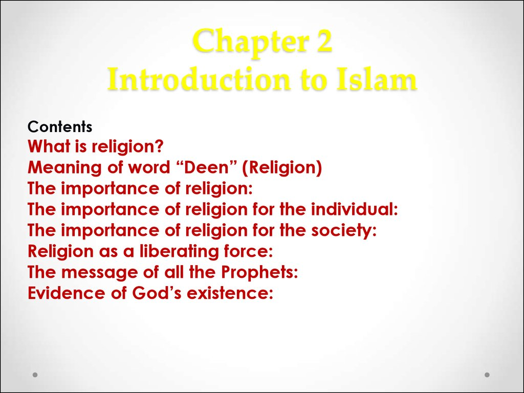 Chapter 2 Introduction to Islam