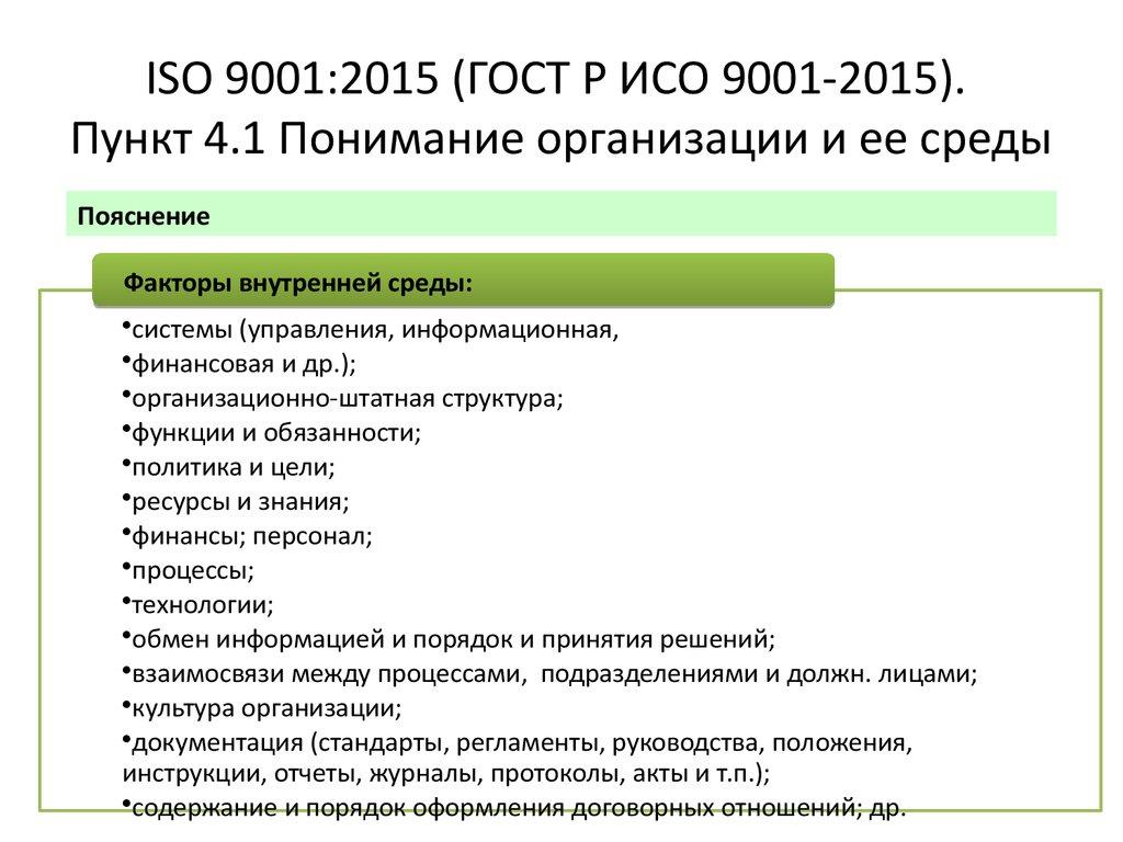 ИСО 9001 2015 в Октябрьском