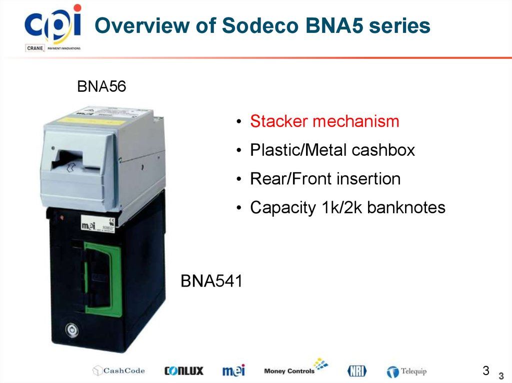 Overview of Sodeco BNA5 series