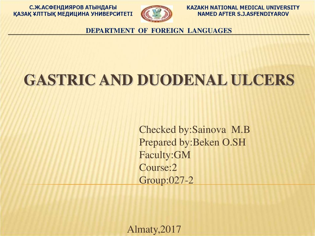 Gastric and duodenal ulcers