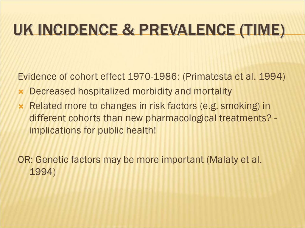 UK Incidence & Prevalence (Time)