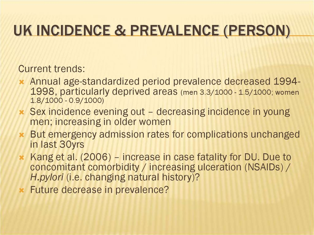 UK Incidence & Prevalence (Person)