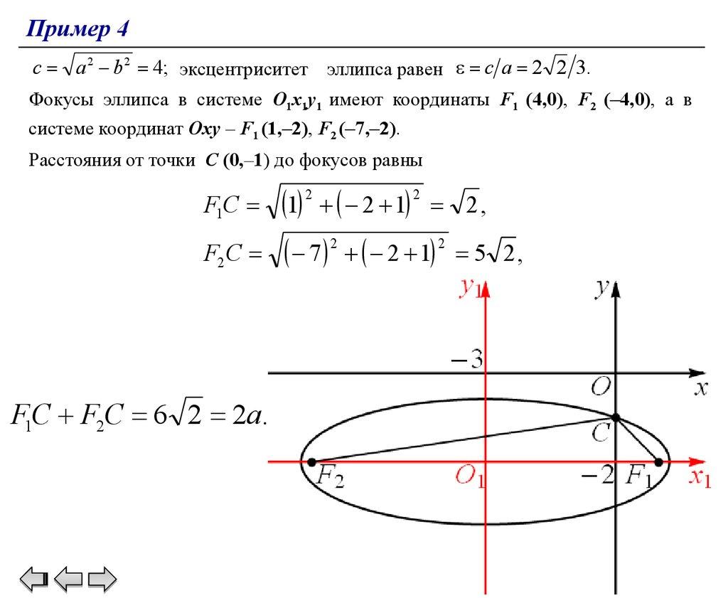 Фокус эллипса решение задач решение задач теоретической механике мещерский решебник
