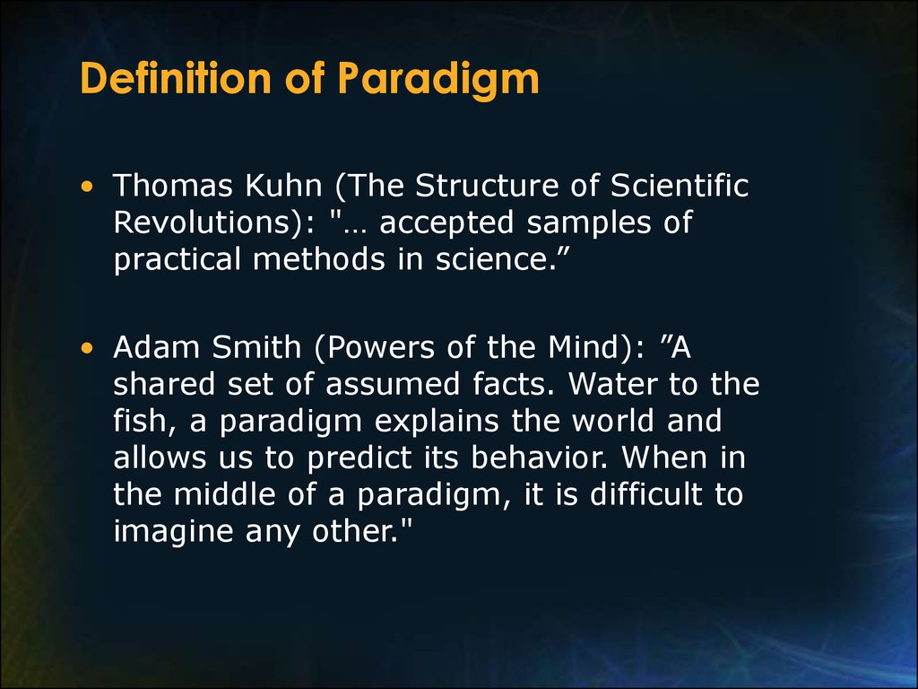 thomas kuhn and the concept of the paradigm shift Thomas kuhn and paradigm shift - free download as word doc the paradigm concept in 1962, thomas kuhn wrote µthe structure of scientific revolution¶.