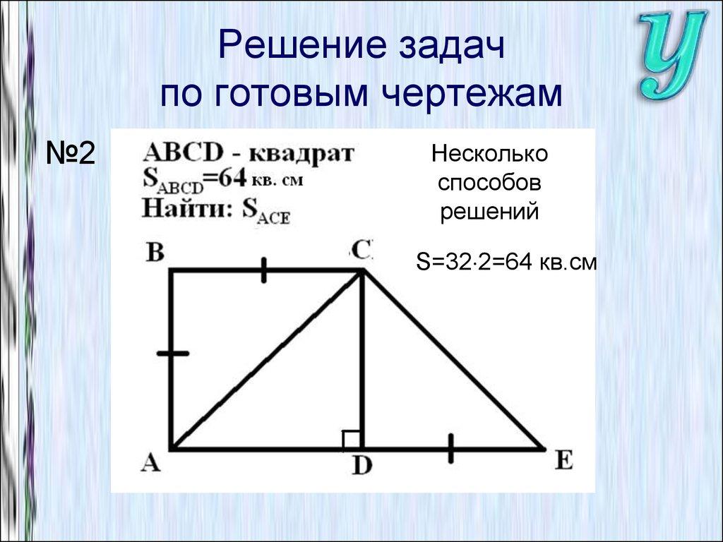 Решение задачи площадь требования к оформлению решения задачи по математике