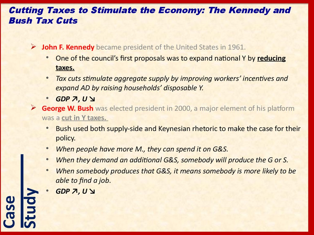 Cutting Taxes to Stimulate the Economy: The Kennedy and Bush Tax Cuts