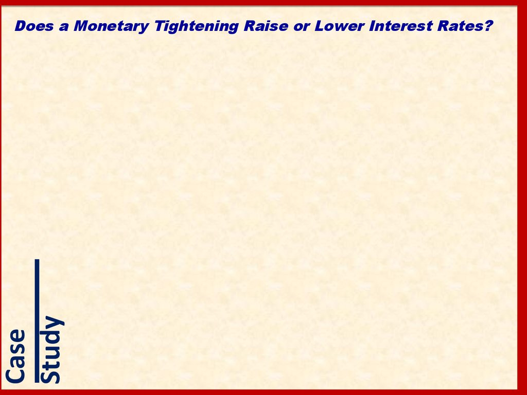 Does a Monetary Tightening Raise or Lower Interest Rates?