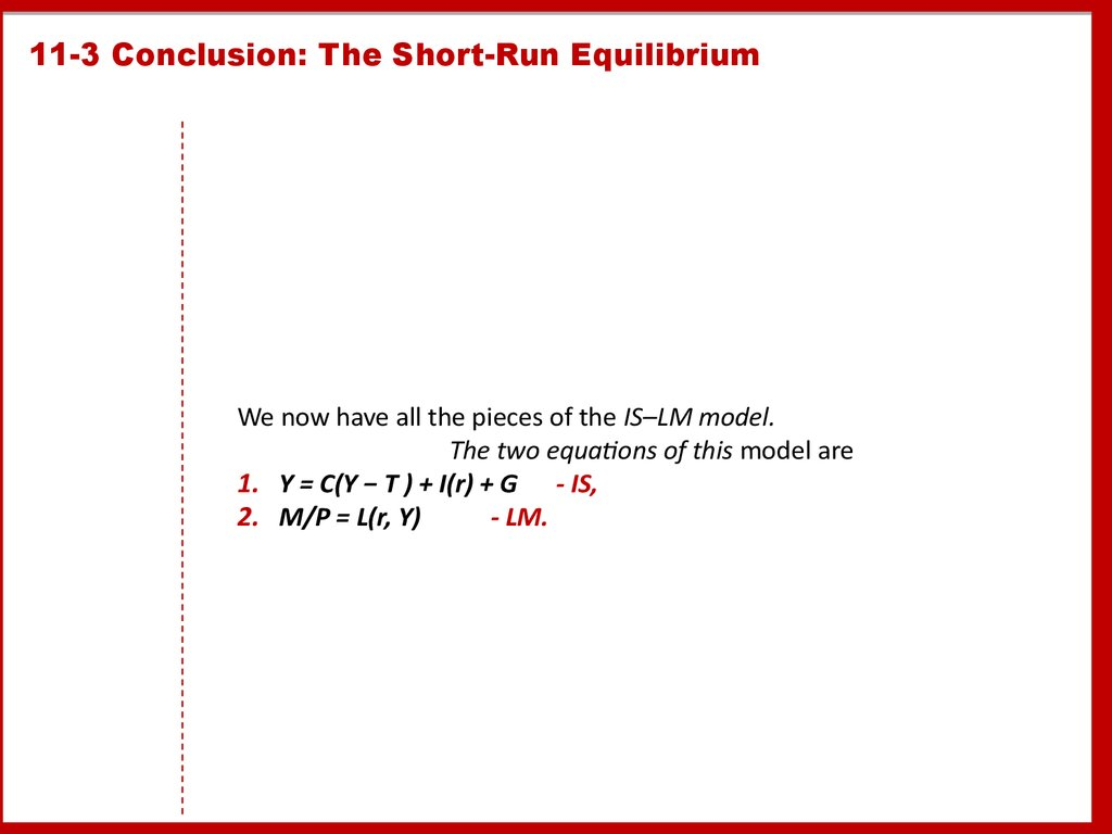 11-3 Conclusion: The Short-Run Equilibrium