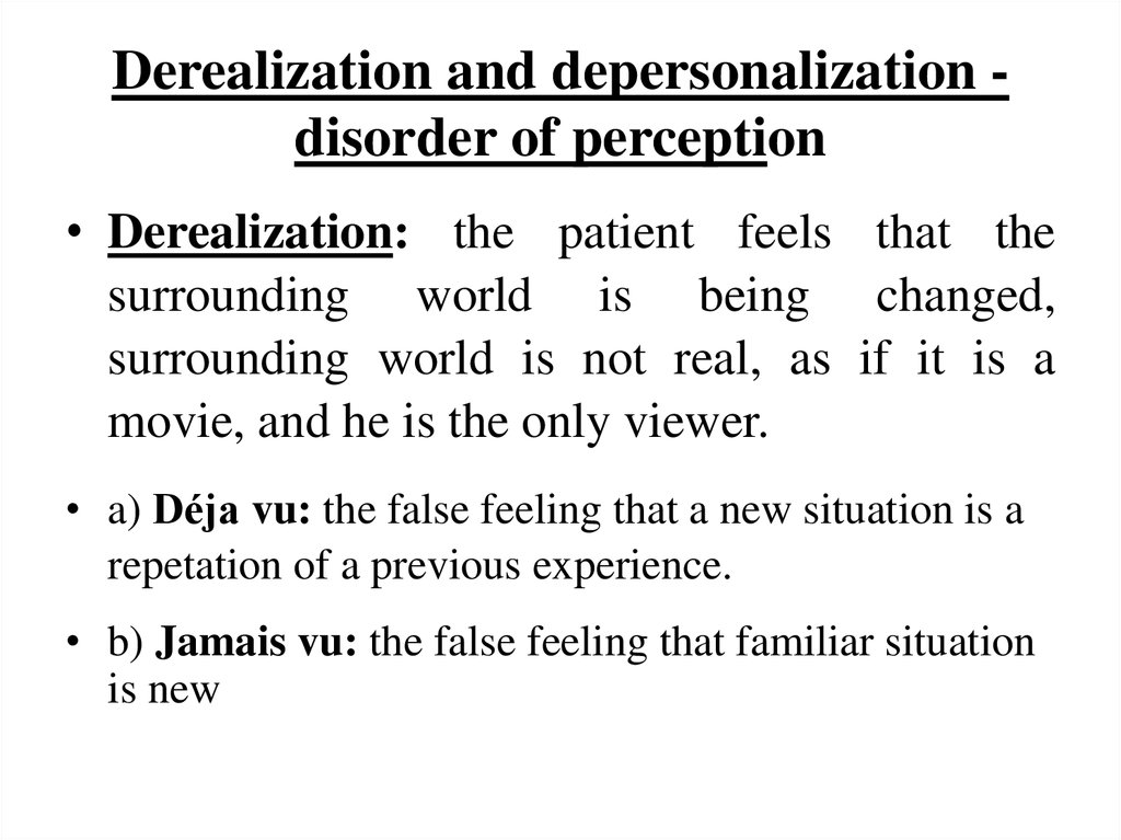General Psychopathology презентация онлайн