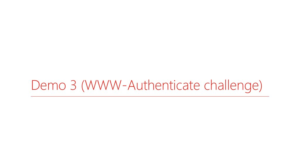 Demo 3 (WWW-Authenticate challenge)