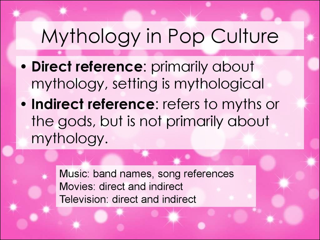mythology in modern pop culture