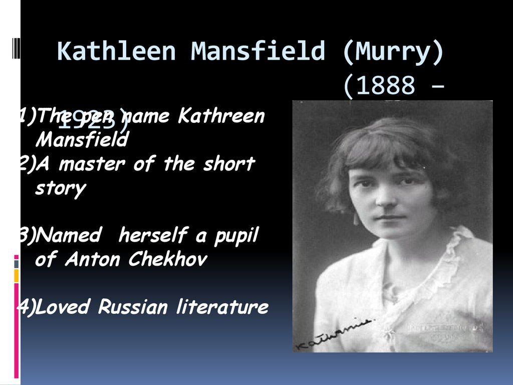 an introduction to the role of katherine mansfields writing Find and save ideas about katherine mansfield on pinterest stylistic devices in katherine mansfields stories of katherine mansfield / with an introduction by.