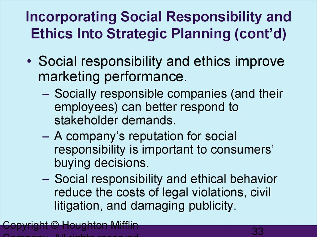 ethics and social responsibility in marketing essay Free essays from bartleby | ethics and innovations in marketing and  its  of society companies that include ethics and social responsibility into.