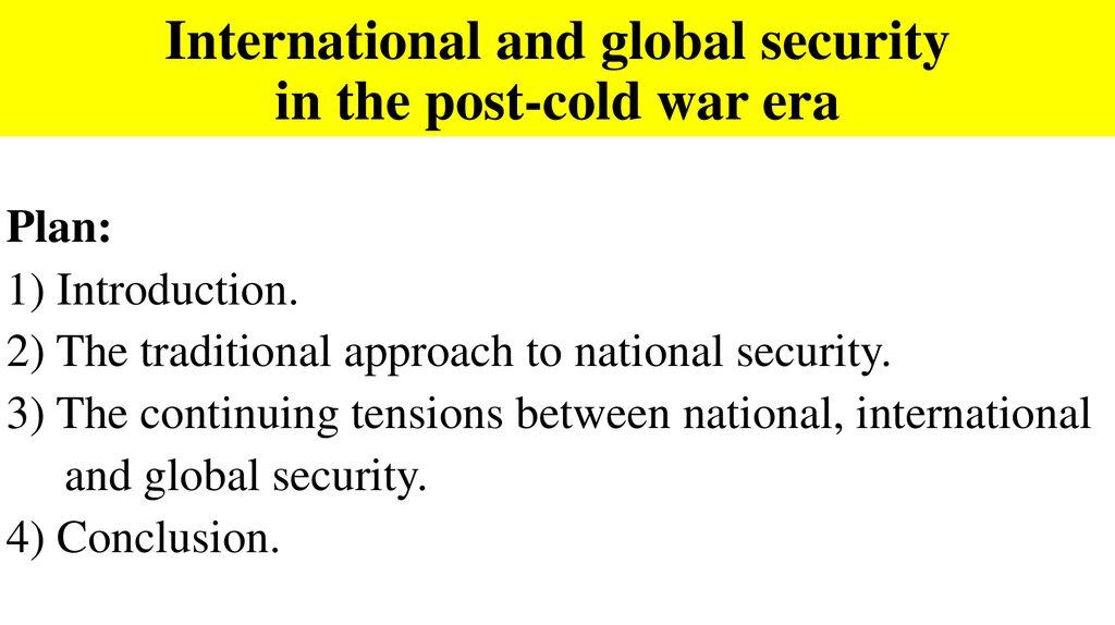 international security ppt