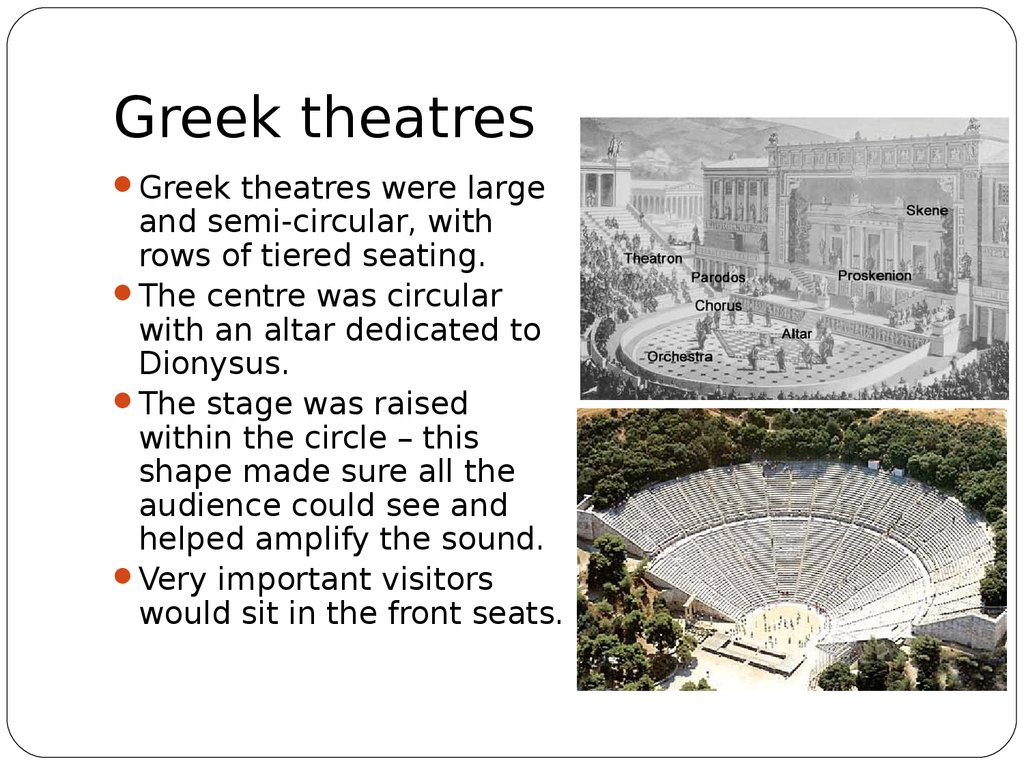 Greek theatres