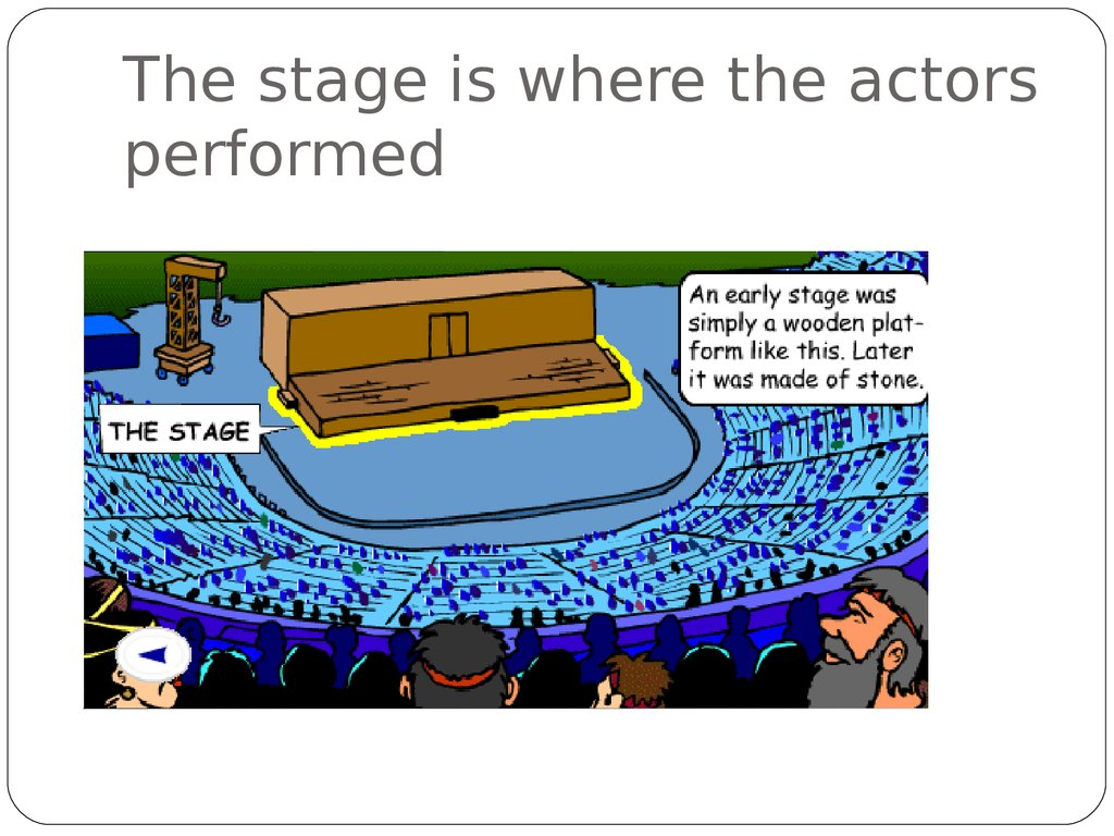 The stage is where the actors performed