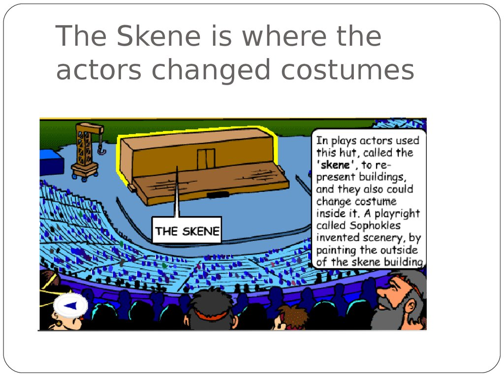 The Skene is where the actors changed costumes