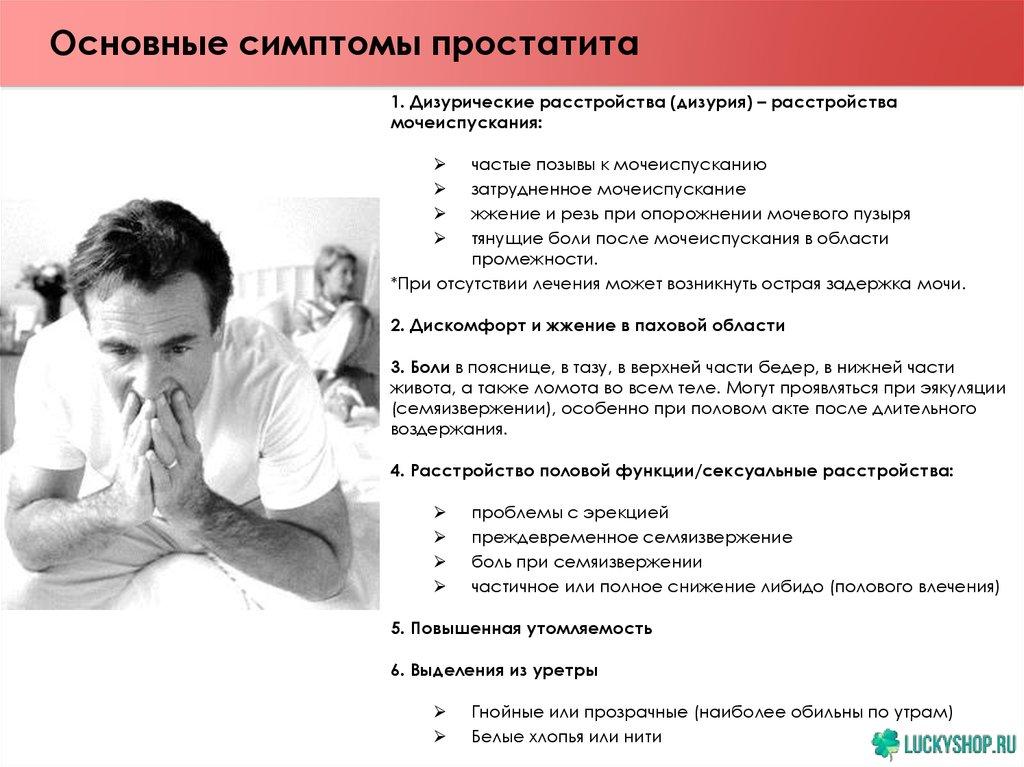 Простатит и сексуальные расстройства препарат профилактики простатита