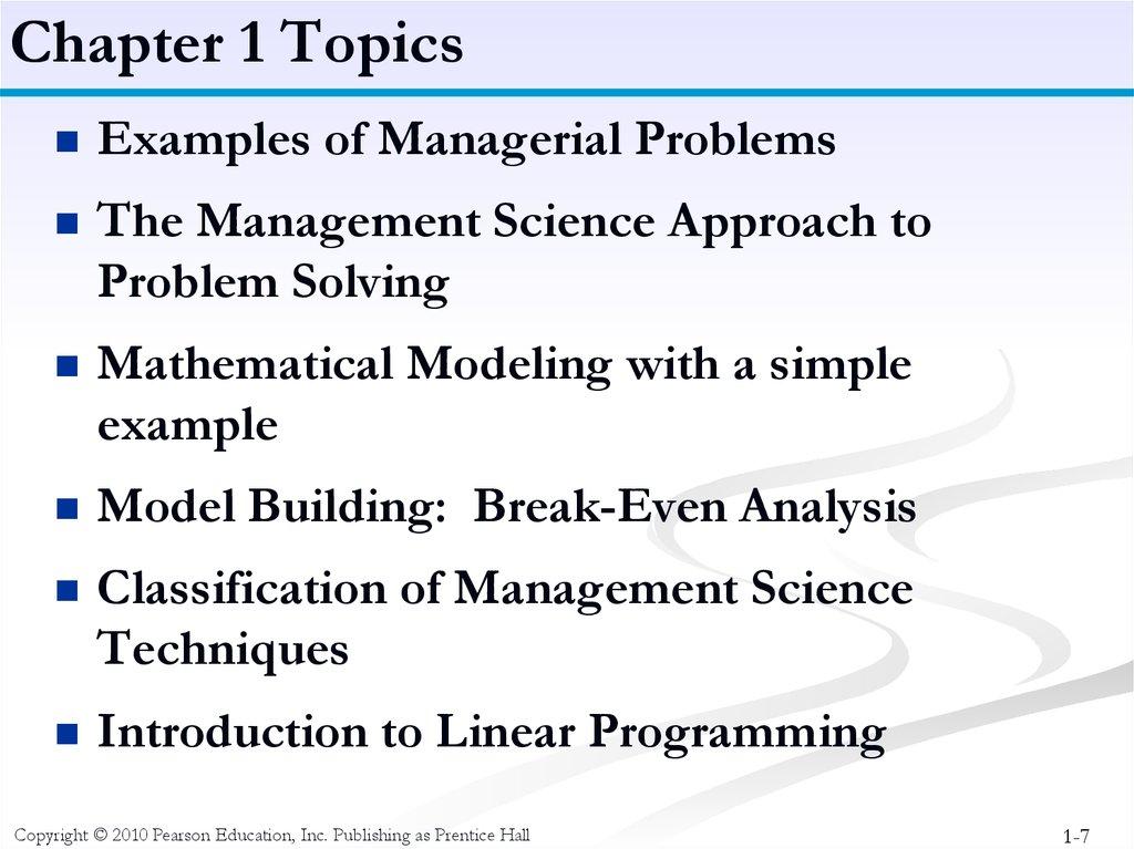 Management Science - презентация онлайн