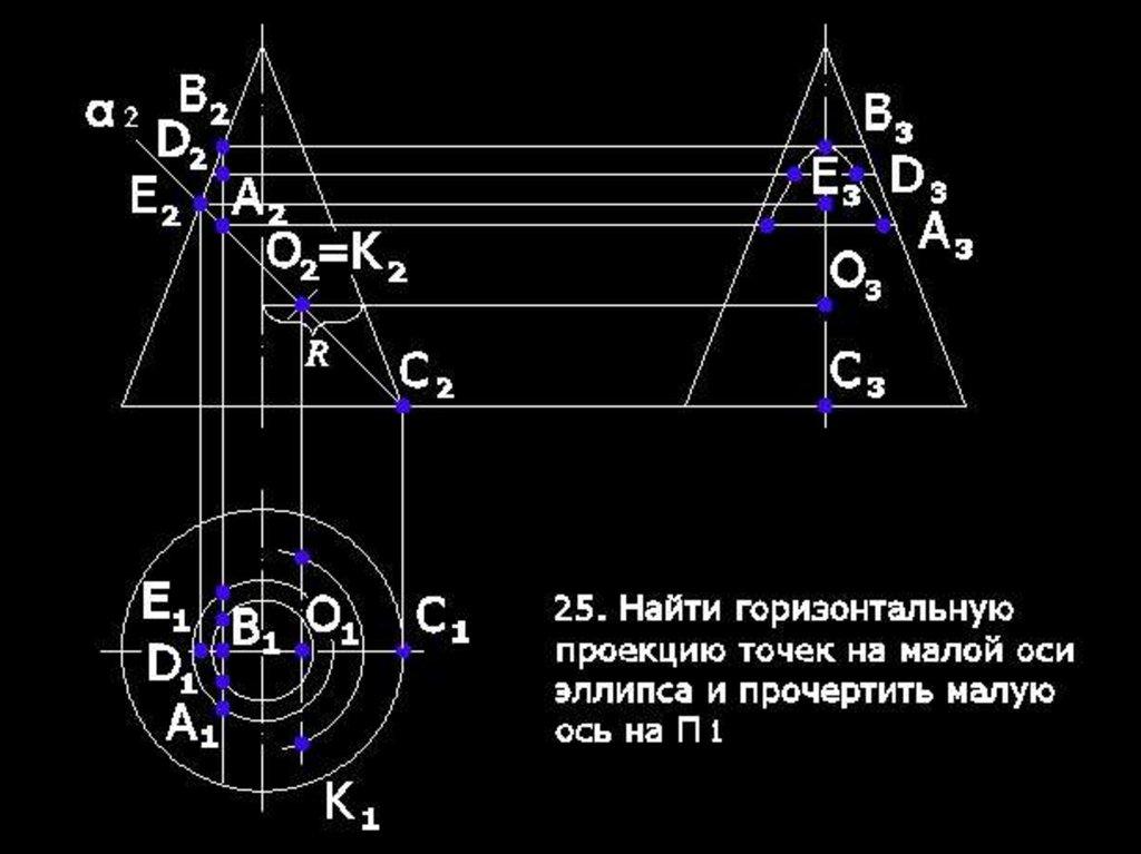 Построение теней в ортогональных и аксонометрических