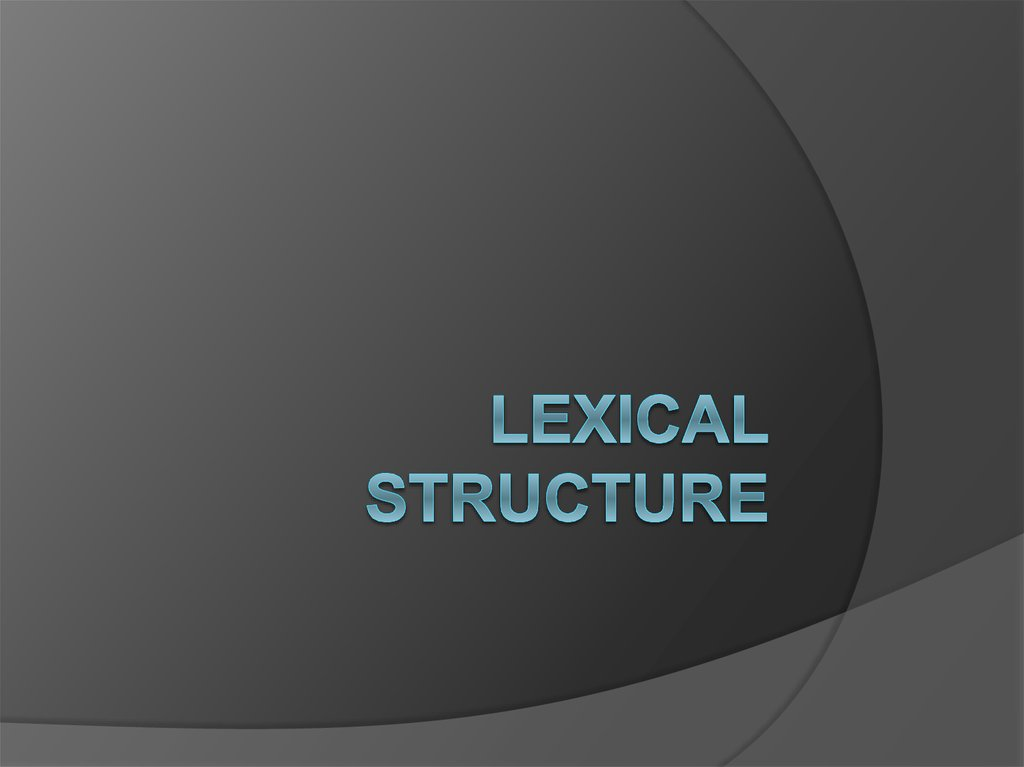 lexical structure