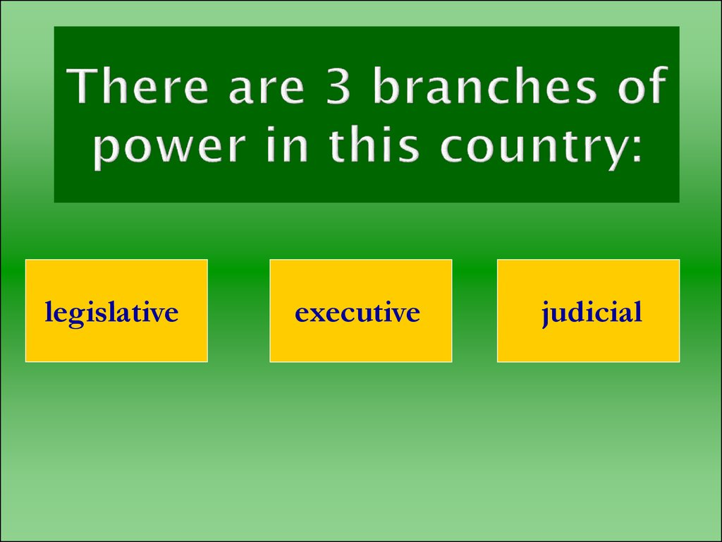 There are 3 branches of power in this country: