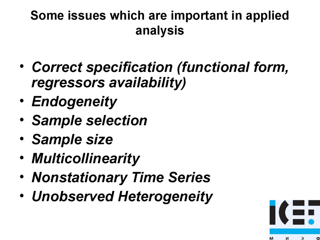 Some issues which are important in applied analysis