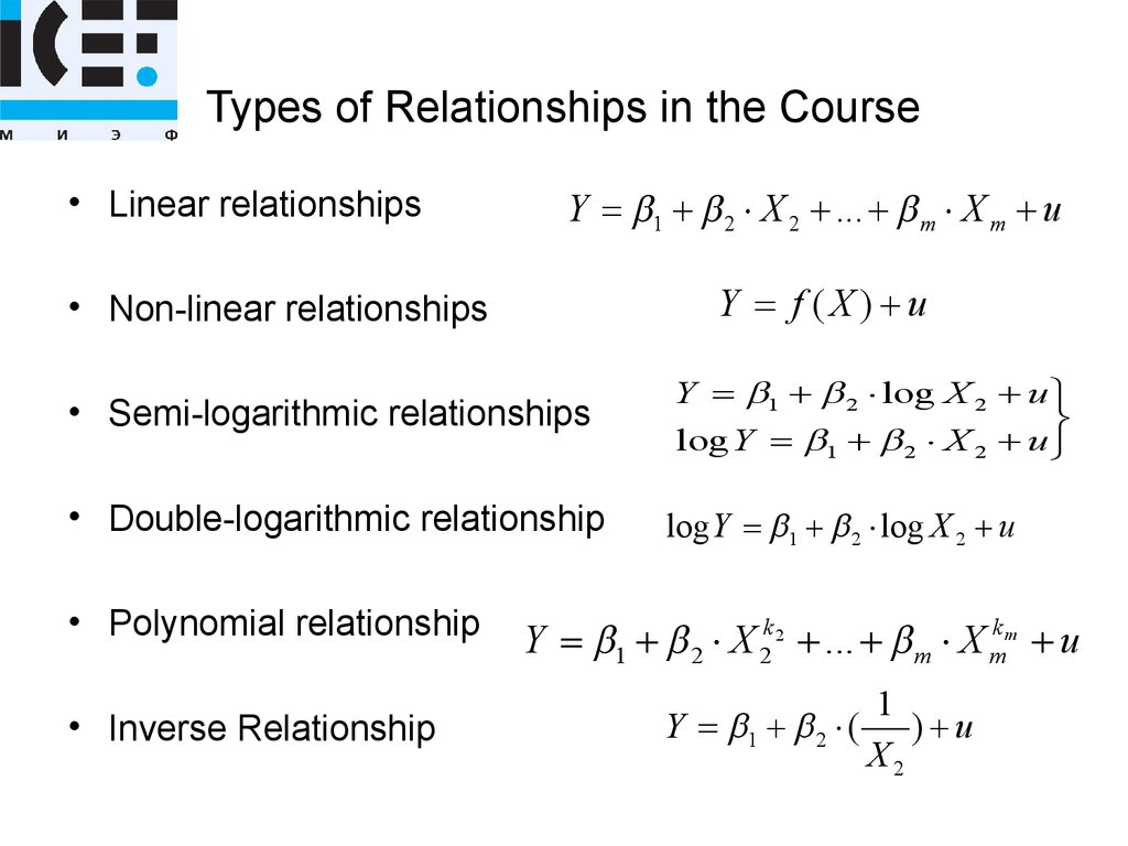 Types of Relationships in the Course