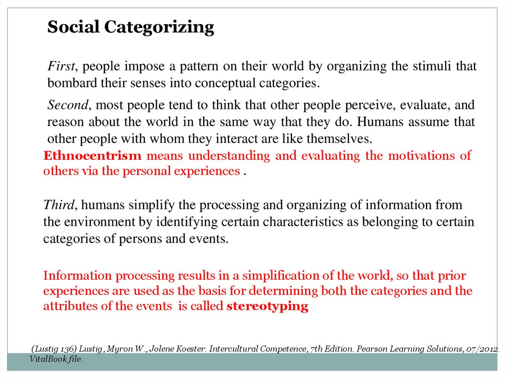 Cultural identity and cultural biases - online presentation