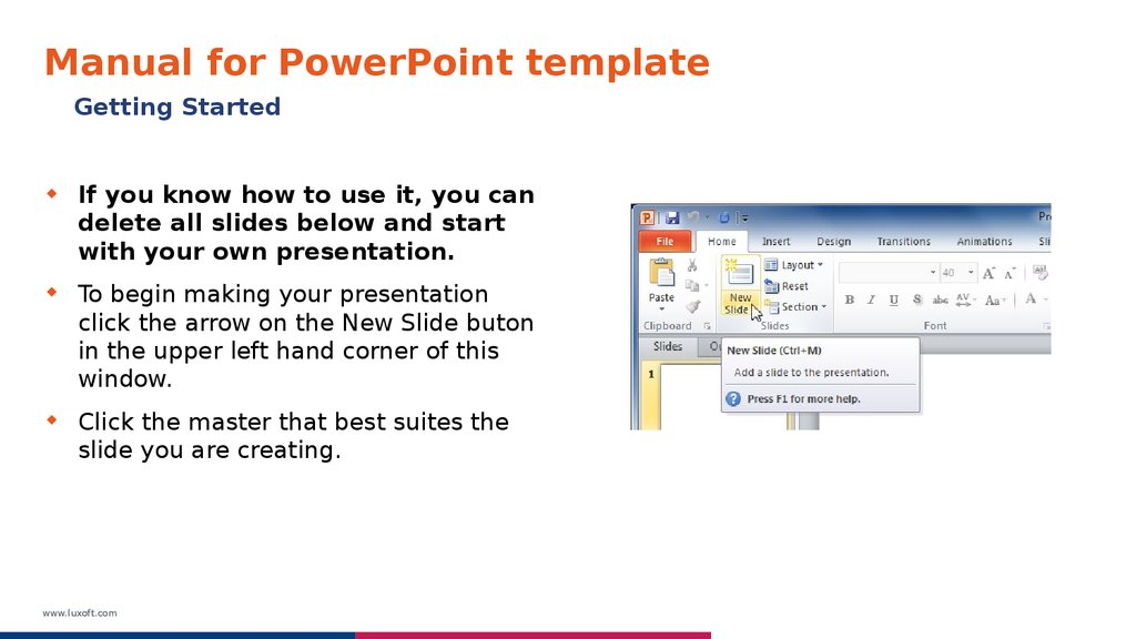 manual for powerpoint template online presentation
