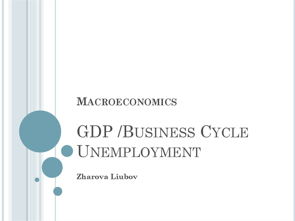 Macroeconomics GDP /Business Cycle Unemployment