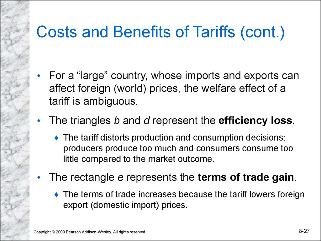 the relative costs and benefits of foreign Benefits from trade opening would also hinge on policy improvements in complementary areas, such as infrastructure investments, business environment and others the brazilian economy pays a price in terms of productivity foregone because of its lack of trade openness.