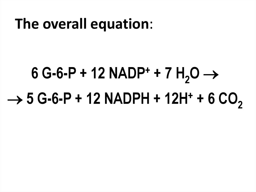 The overall equation: