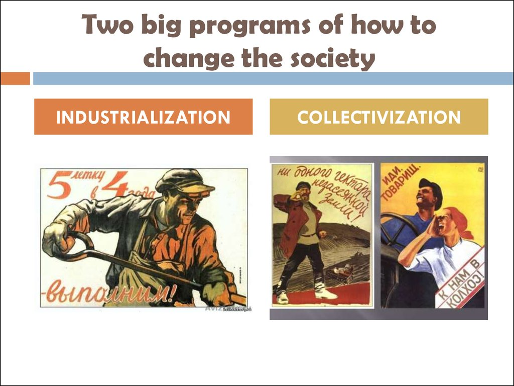 Two big programs of how to change the society