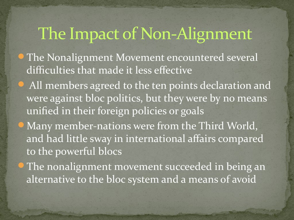 The Impact of Non-Alignment