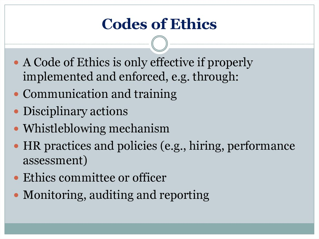 essay about code of ethics