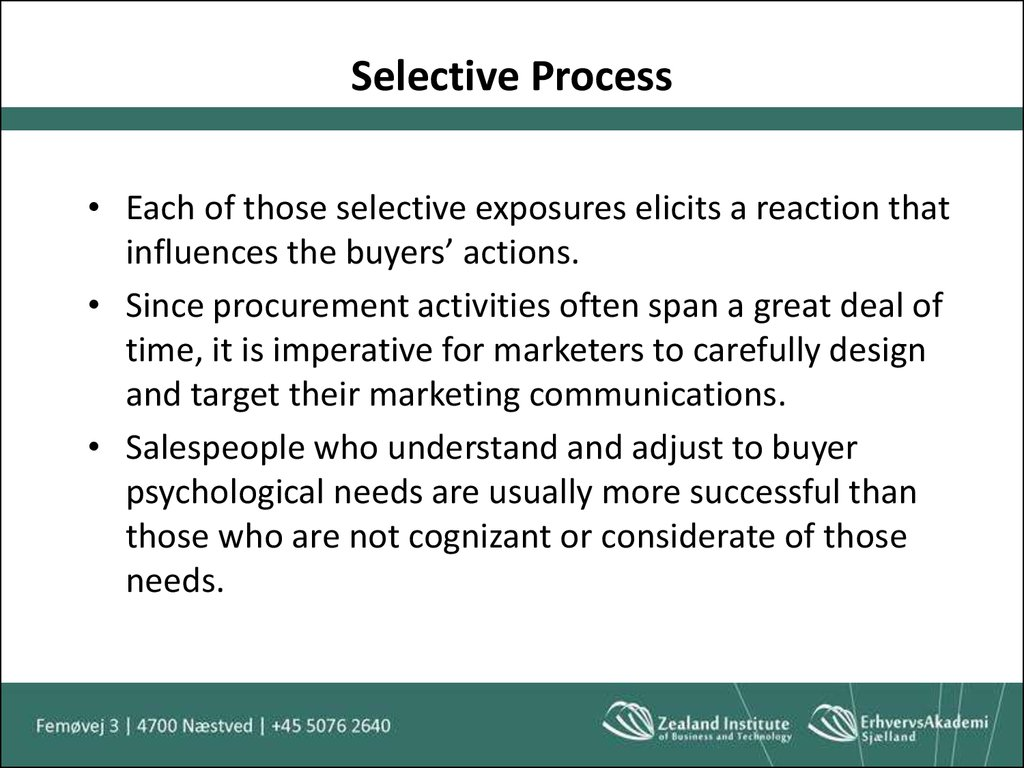 the selective process