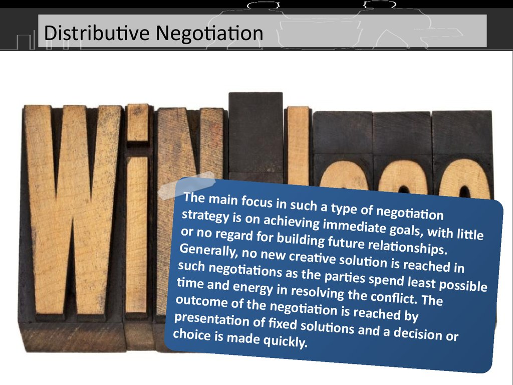 distributive negotiation strategy examples