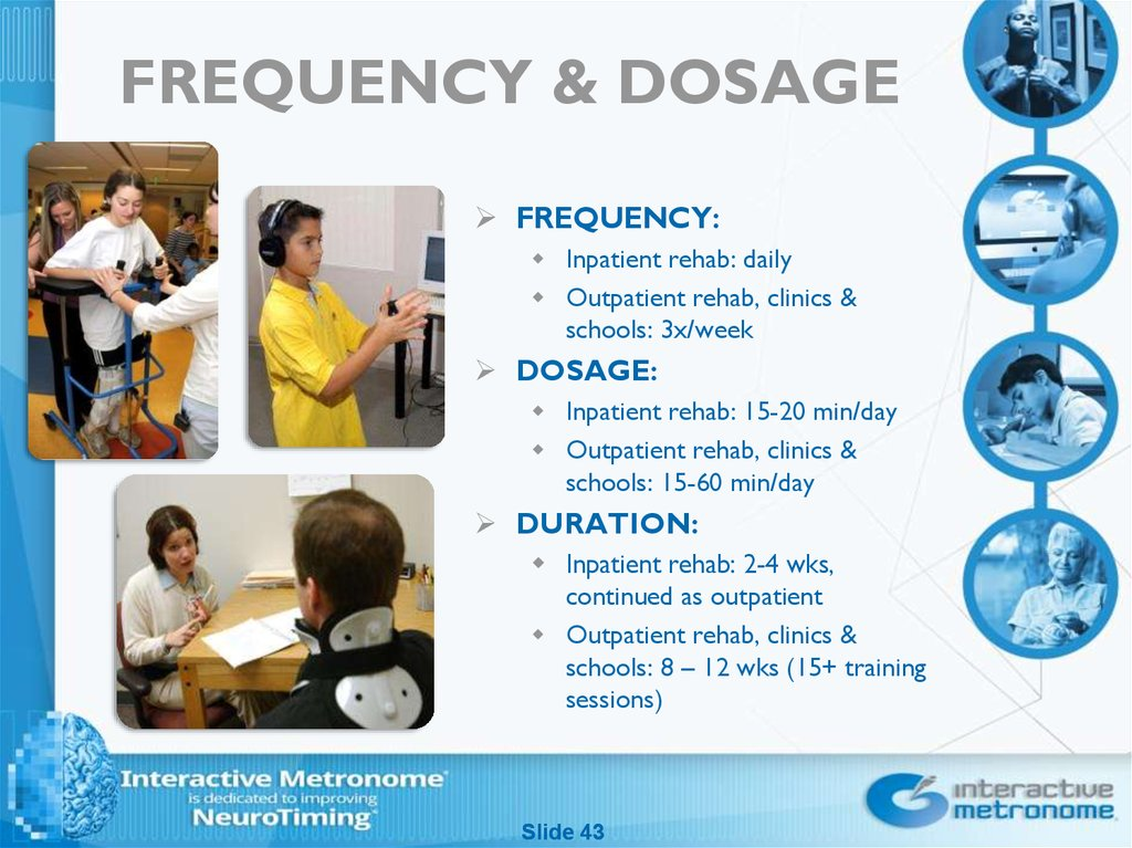 FREQUENCY & DOSAGE