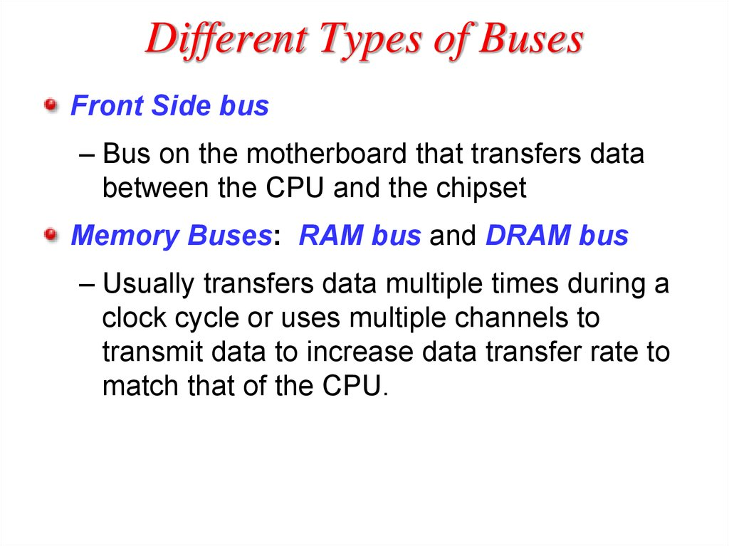 Different Types of Buses