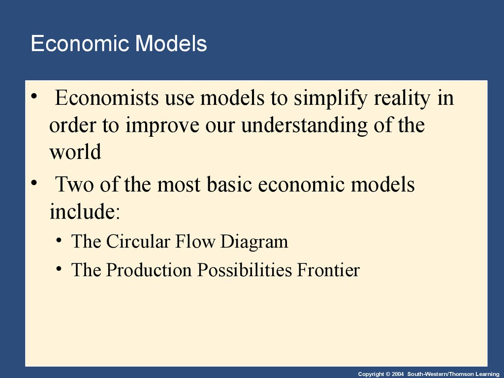 Thinking like an economist online presentation 7 economic models ccuart Image collections