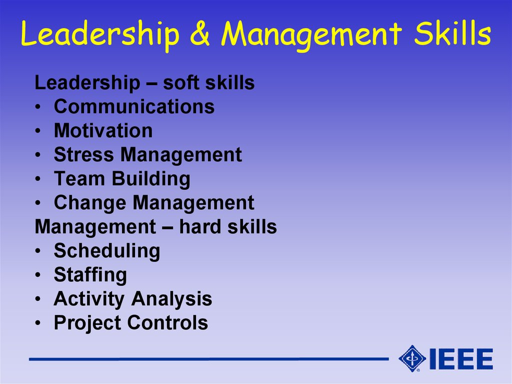 Leadership & Management Skills