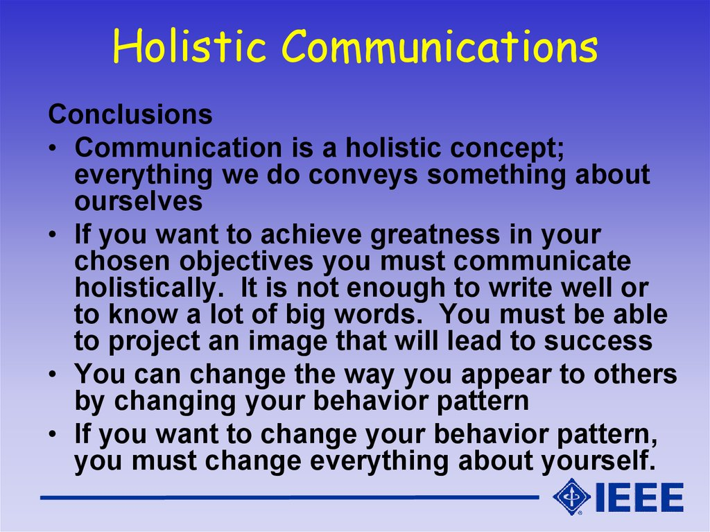 Holistic Communications