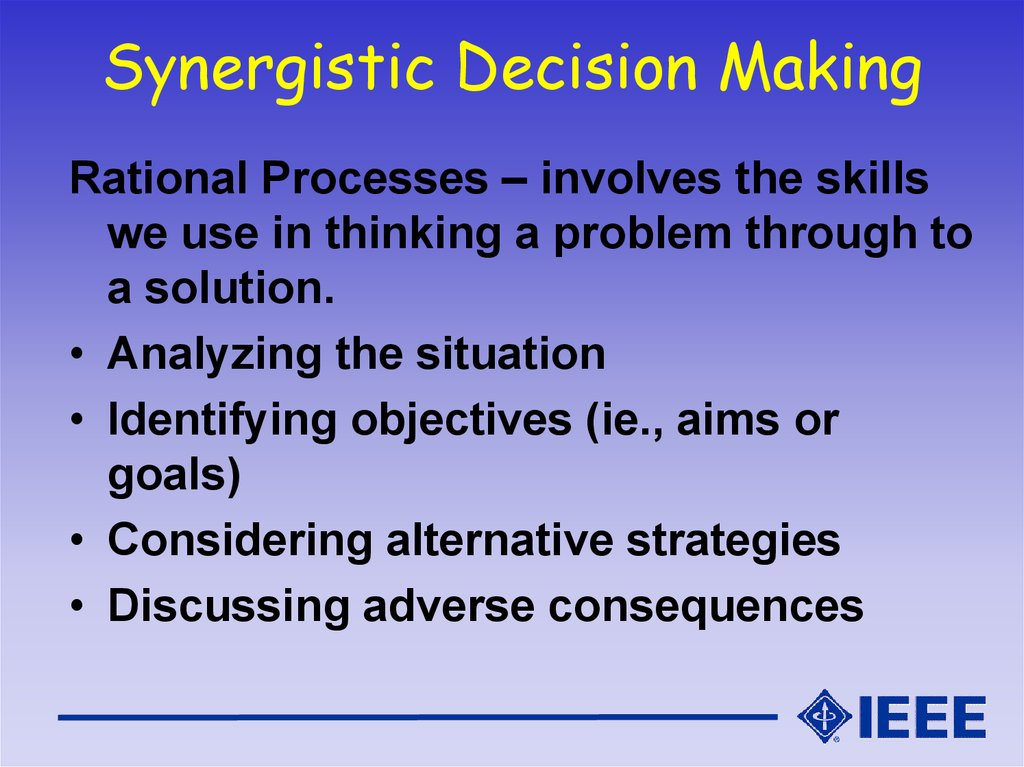 an analysis of the syllogistic decision making Decision analysis for the professional origins of decision analysis 1 decision making 2 a philosophy 2 a decision framework 2 a decision-making process 3.